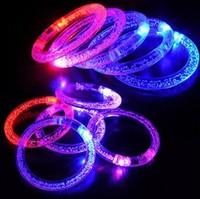 free shipping led flashing bracelet  Acrylic Evening Prom Party Decoration toys toy bar Including electronic magic finger light