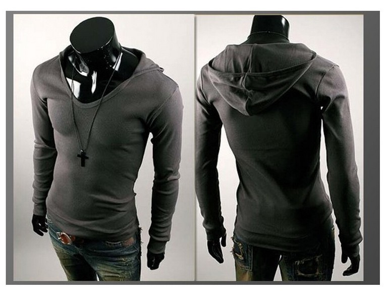 Inexpensive Designer Men's Clothing Hooded T shirt cheap designer