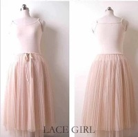 Long design tulle dress modal spaghetti strap vest puff skirt full dress basic yarn skirt gauze autumn one-piece dress autumn