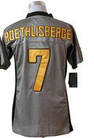 American Football Men's Elite Jerseys #7 Ben roethlisberger jersey Grey Shadow Authentic Jerseys size 40-56 Stitched sportswear