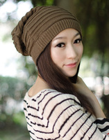 1 pcs,Winter Autumn Men Women Casual dual purpose Beanies,Warmth Stripe Woolen Yarn Hat/Neckerchief