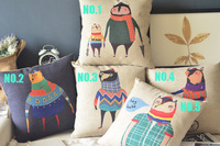 Wholesale Cute Forest Large Family Bear and Fox Cartoon Creative Cushion Cover Pillows Decorate Sofa 5 Choose 1 Free Shipping