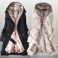 2013 2014 women's wool liner trench outerwear medium-long slim wadded jacket overcoat