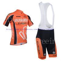 Hot Sale! New Arrival/2013 Euskaltel Short Sleeve Cycling Jerseys+bib shorts (or shorts)/Cycling Suit /Cycling Wear/-S13E11