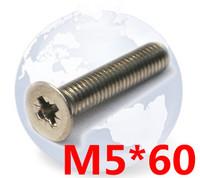 DIN965  Machine Phillips Flat Head  Screw  M5*60   Stainless Steel    ---  A2/304