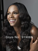 middle part body wave full lace wig