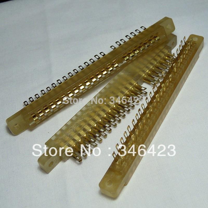 3.96 cy401-44p printed board socket pcb slot double connector gold plated(China (Mainland))