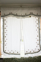 Free Shiping Home Handmade flower fashion balcony the finished curtain piaochuang short curtain