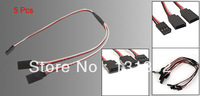 5 Pcs RC Servo Y Splitter Extension Cord Wire Cable