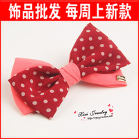 Free Shipping Accessories hair accessory double layer dot Large bow hairpin b20