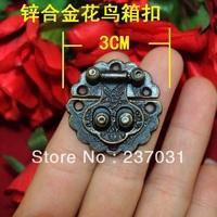 3CM Antique Flower Box buckle / zinc alloy buckle / buckle decorative wooden gift box / packaging buckle 8.8G