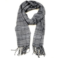 Free Shipping 2013 Womens Mens Classic Fashion Long Cotton Grey Winter Autumn Tassel Striped Plaid Designer Scarf Wholesale