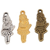 Girl charms 83PCS  MIN Order(mix 10$)1917#15*11 mm Tibetan Silver/ Bronze Plated/Gold Plated