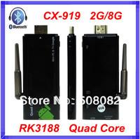 Quad Core Mini PC CX-919 RK3188 Android 4.2.2 tv box WiFi Cortex A9 1.6Ghz RAM 2G+ROM 8G Bluetooth HDMI CX-919ii TV Box android
