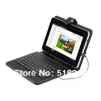 "PU Leather Case Stand Keyboard USB 2.0 Plug for 9"" Tablet"