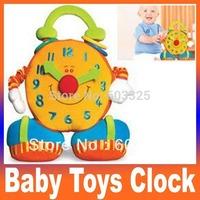 Christmas Gift Baby Toys Big clock with soft mirror & vibration Stuffed & Plush Animals Toys Handbell brinquedo de presente