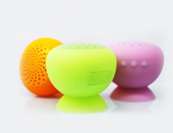 wireless mini bluetooth speaker Waterproof Silicone Suction mixed color free shipping