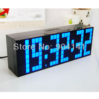 Free Shipping! Promotion price multi-function led digital clock/wall/desk alarm clock