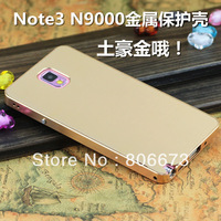 Luxury 2 in 1 Combo Ultra-thin Aluminum Metal Case For Samsung Galaxy Note 3 N9000 , Free Shipping