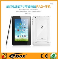 7 inch android 4.0.4 MTK8377 dual core A9 1.2Ghz, 3G phone call,WCDMA/GSM,wifi,bluetooth,dual camera,GPS 512MB 4GB tablet pc