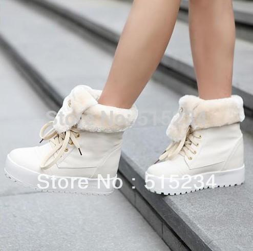Женские ботинки 2013 The Winter Thick Fur Snow Boots for Women High Platform Shoes Ladies Half Knee Boots