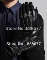 leather gloves for men touch screen gloves winter the M150 goat skin men 2014 new