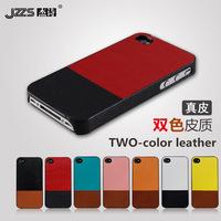 Two-color  for apple   4 phone case iphone4 s protective case iphone4 plastic color block holsteins decoration