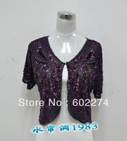 2013 spring summer beaded short jacket lace women's top waistcoat short-sleeve cardigan cape