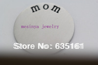 30pcs  large 316L not cheap 304 family plate for floating charm  30mm s.steel glass locket