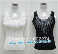 2013 summer all-match basic spaghetti strap top female plus size silk paillette small vest women's summer