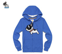 Animal fleece sweatshirt thickening long-sleeve lovers hooded zipper casual outerwear