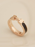 hopeall for christmas jewelry fashionable present for man Fall in love high quality 14k color gold small h rose gold ring