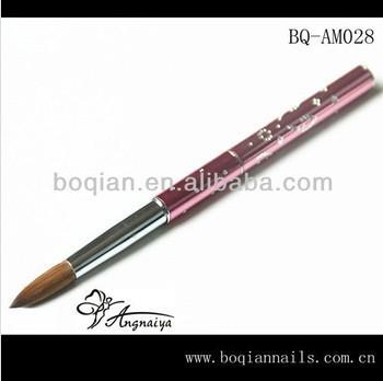 3D Acrylic Nail Brush Kolinsky Sable Hair Acrylic Nail Brush Nail Art Acrylic Brush/ #2(China (Mainland))