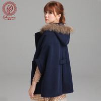 2013 cloak wool coat female woolen overcoat medium-long loose outerwear