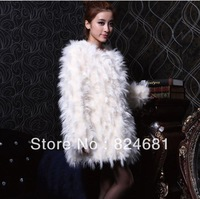 Women's Artificial Lambs Wool Fur Long Coat Jackets PC45