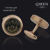 Newsest classic titanium steel cuff Links unique design watch cufflink Tourbillion cuff link fashion gift QR-31