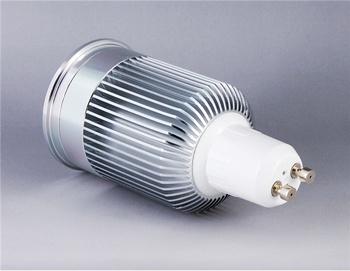 SD009 5*1W GU10 5-LED White Light DIY Aluminum Spot Light Shell Kit (Silver)