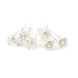 Colour bride silver pearl small flower hair stick hair accessory hair accessory hair accessory of marriage