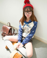 Love pills 10.11 preppystyle embroidery tiger head casual sweatshirt