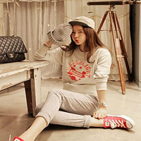 High quality letter print casual loose sweatshirt student paragraph thickening fleece sweatshirt