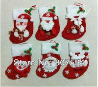 8pcs/lot Santa Claus&Snowman&Deer Christmas stockings,christmas tree decorations,ornaments for christmas tree,christmas gift s46