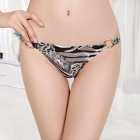 3 pcs/lots Hot-selling leopard print thong  sexy temptation of passion quoined buckle women's Bikini Pants Free Shipping