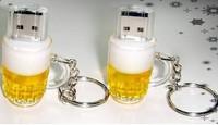 hot hot  Wholesale Sale Fashion Creative Beer Mug+Key Chain 1GB-32GB USB Flash 2.0 Memory Drive Stick Thumb/Car/Pen Gift
