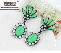 Korean new fashion style chic sweet concise temperament stud earrings ear clip christmas beautiful