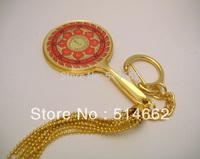 FENG SHUI - Fire Protection Wheel Mirror of Avalokiteshvara Keychain  W1070