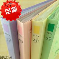 Data book fb204 40 floweryness multicolour fashion interlays clip transparent bags file folder a4