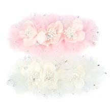 Silk yarn flower hair accessory formal dress wedding dress pearl the bride hair accessory rhinestone marriage accessories