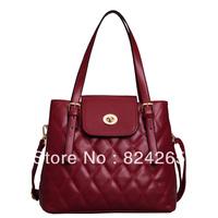 Bags 2013 female plaid bucket bag fashion vintage women's cross-body handbag messenger bag