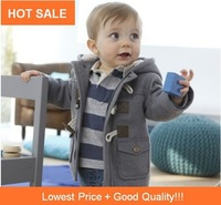 Hot SALE 2013winter Fashion Forn Button Child Thickening Outerwear Overcoat Male Children Outerwear Boy Jacket Retail Baby Coat