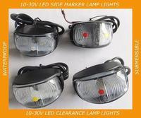 LED TRAILER SIDE MARKER LIGHT LAMP WHITE/RED/AMBER CLEARANCE 10-30V  SUBMERSIBLE BOAT TRUCK TRAILER BUS CARAVAN
